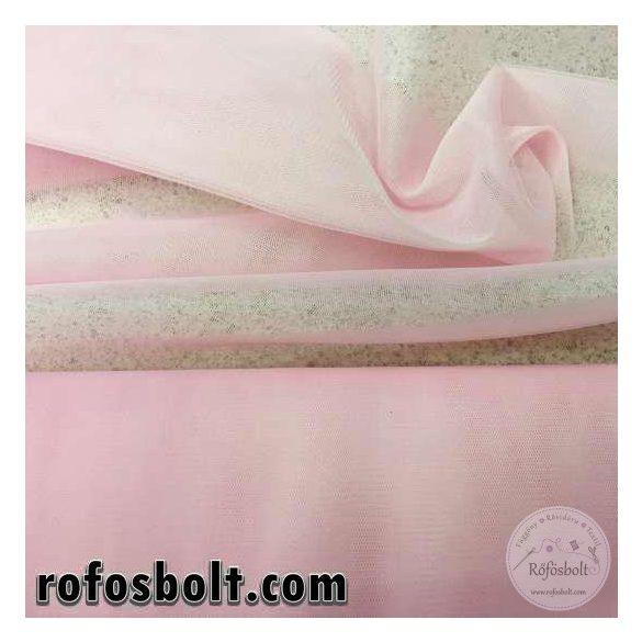 Halvány rózsaszín elasztikus fátyol tüll (ME955)