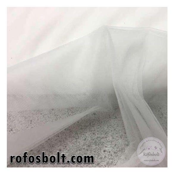 Fehér elasztikus fátyol tüll (ME957)