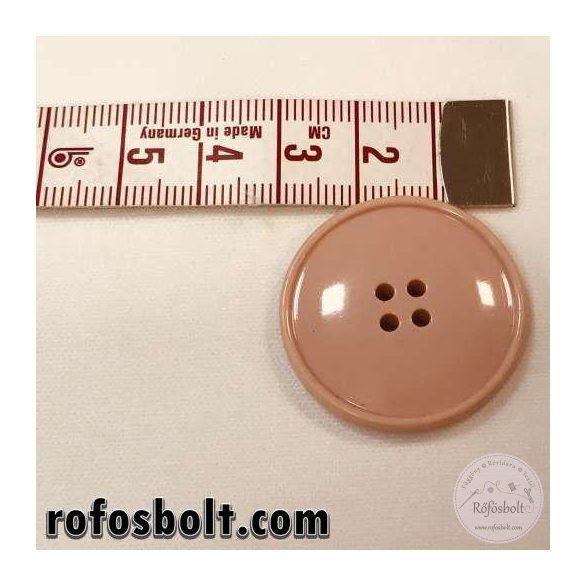 Nagyalakú rózsaszín kabátgomb (3)