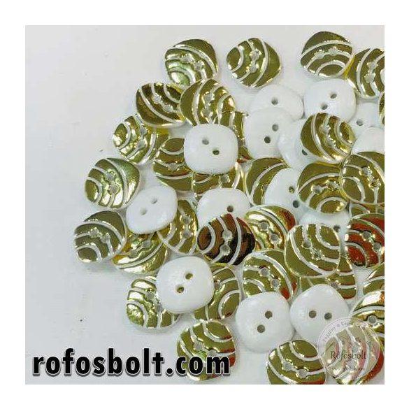 Négyzetes fehér arany gomb