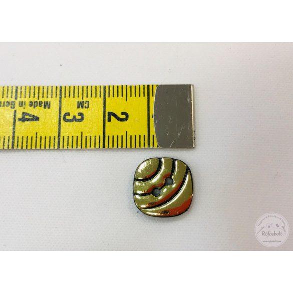 Négyzetes fekete arany gomb