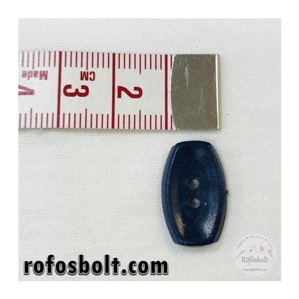 Ovális sötétkék gomb (3)