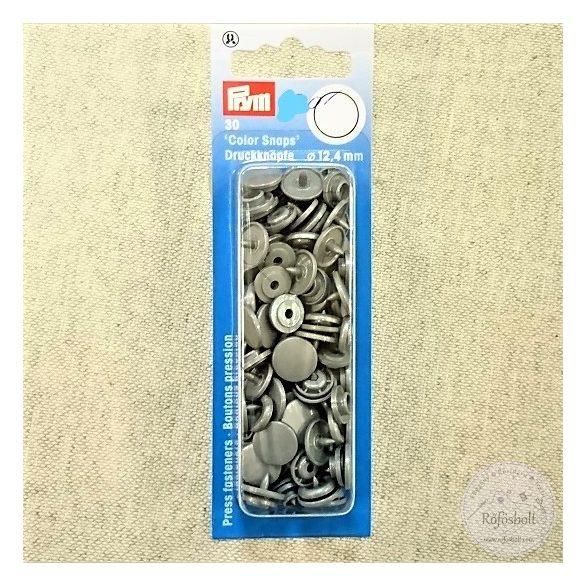 Prym Ezüstszürke kör alakú műanyag patent 393 145