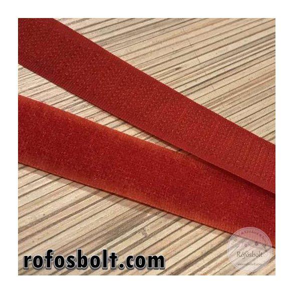 Piros varrható tépőzár, 2 cm széles