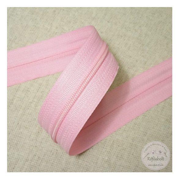 Rózsaszín méteres ágynemű cipzár
