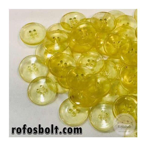 Sárga áttetsző gomb