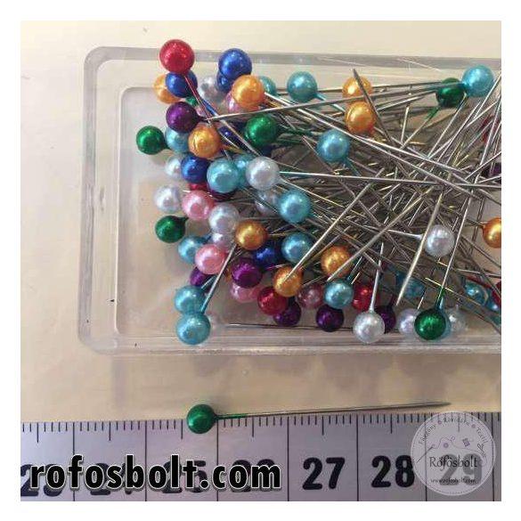 Gombostű: színes műanyag fejű 3,5 cm-es
