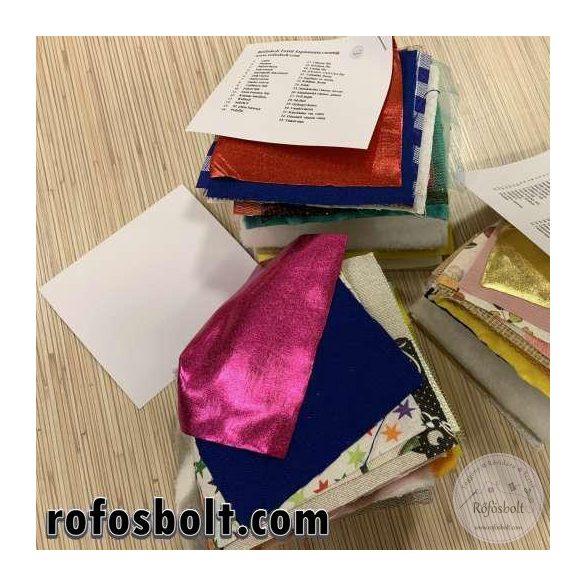 Textil fogásminta csomag (33 féle textilből)