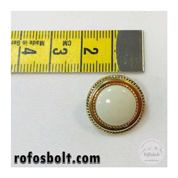Tört fehér aranykeretes kosztüm gomb