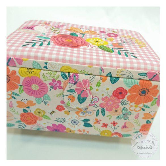 Varrós doboz Tavaszi virágos