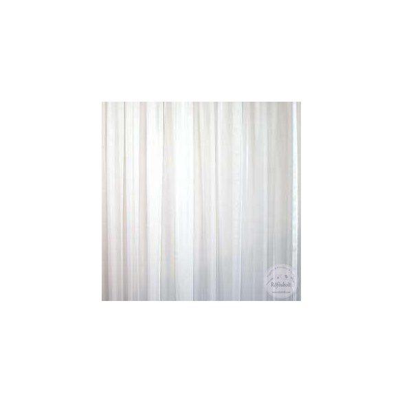 Voile fehér egyszínű ólomzsinóros  (300cm)