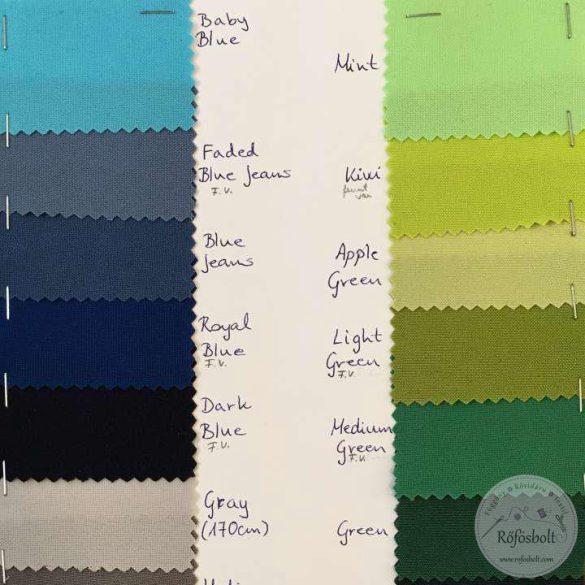 Könnyű esésű árnyékoló: borsózöld (light green) panama