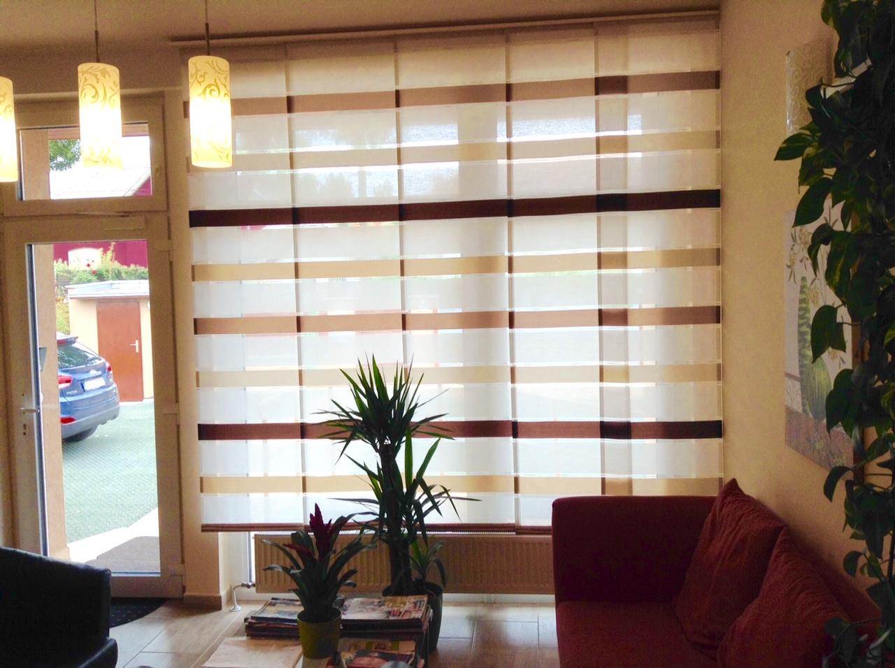 modern panel függöny